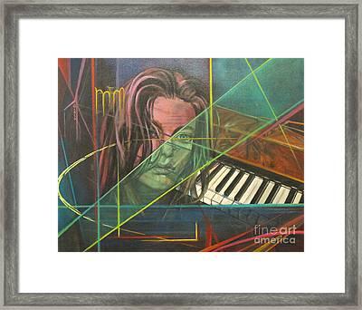 She's Got The Blues Framed Print by Eva Berman