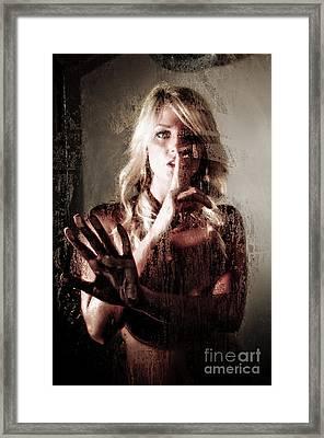 Shhh Framed Print by Jt PhotoDesign