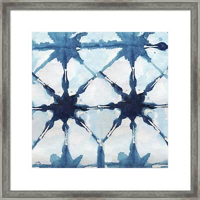 Shibori II Framed Print by Elizabeth Medley