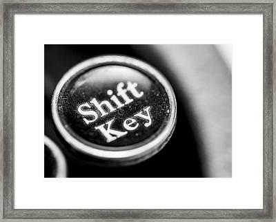 Shift Key - Corona Zephyr Typewriter Framed Print by Jon Woodhams