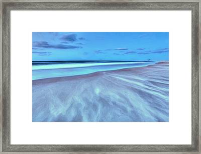 Shifting Sands On Frisco Beach Outer Banks II Framed Print by Dan Carmichael