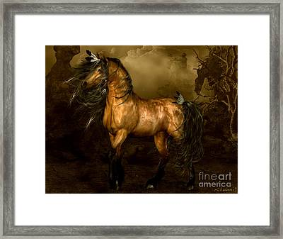 Shikoba Choctaw Horse Framed Print by Shanina Conway
