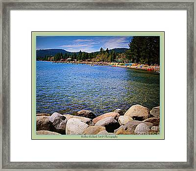 Shimmering Waters Framed Print by Bobbee Rickard