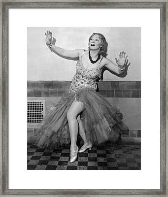 Shimmy Queen Gilda Gray Framed Print by Underwood Archives