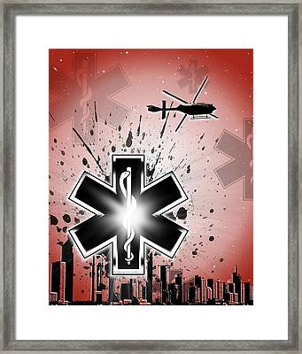 Shine On - Red Framed Print by Melissa Smith