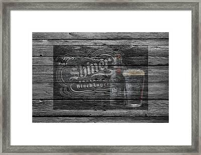Shiner Black Lager Framed Print by Joe Hamilton