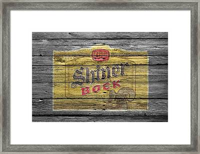 Shiner Bock Framed Print by Joe Hamilton