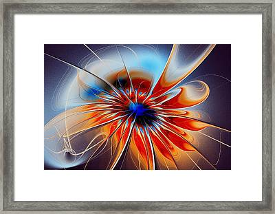 Shining Red Flower Framed Print by Anastasiya Malakhova