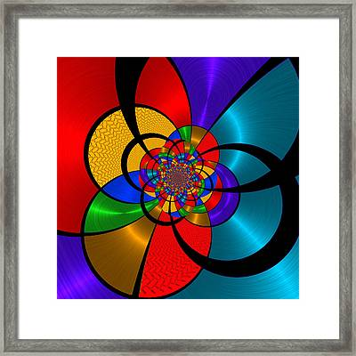 Shiny 2 - For Metallic Paper Framed Print by Wendy J St Christopher
