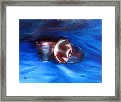 Shiny Metal Cups Study Framed Print by LaVonne Hand
