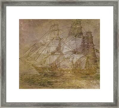 Ship 3 Framed Print by Angelina Vick