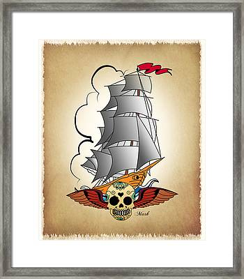 Ship 3 Framed Print by Mark Ashkenazi