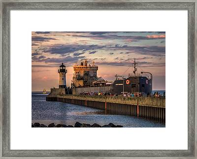 Ship Ahoy Framed Print by Mary Amerman