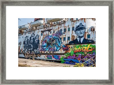 Ship Art Framed Print by Adrian Evans