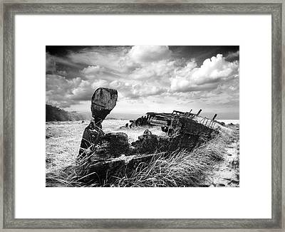 Ship Lost Inland Framed Print by Mike Howlett