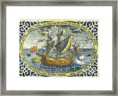 Ship Of Magellan Framed Print by Akg