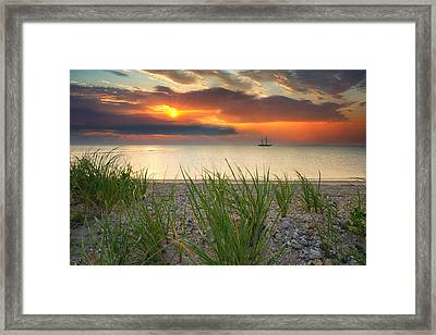 Ship Passing Through Framed Print by Darylann Leonard Photography