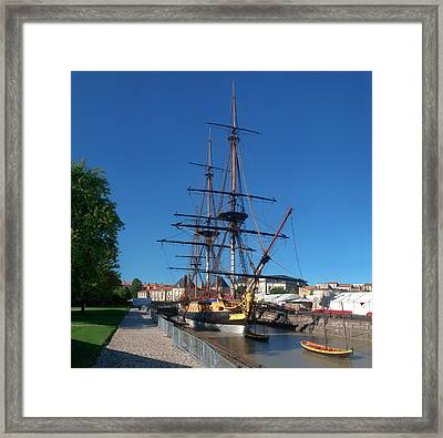 Ship Replica Of The Count De La Fayette Framed Print by Panoramic Images