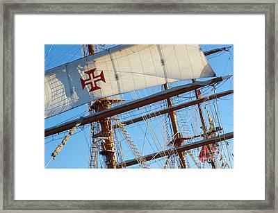 Ship Rigging Framed Print by Carlos Caetano