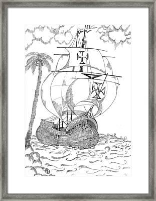 Ship Framed Print by Shruti Bhagwat
