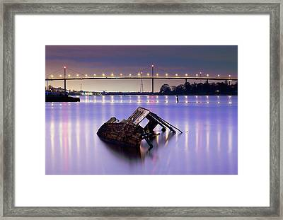 Ship Wreck Framed Print by Grant Glendinning
