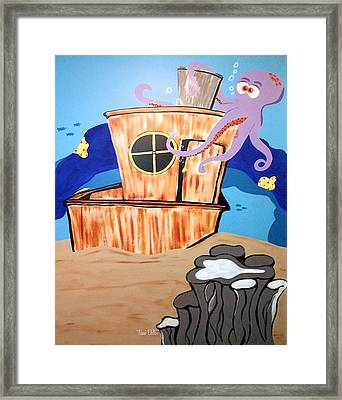 Ship Wrecked Framed Print by Tami Dalton