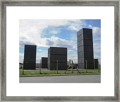 Shipping Containers Framed Print by Robert Brook