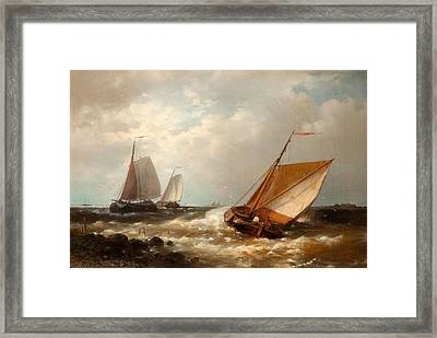 Shipping In A Breeze Framed Print by Abraham Hulk