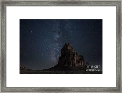 Shiprock Framed Print by Keith Kapple