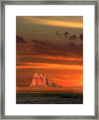 Shiprock Framed Print by Kennith  Gordon