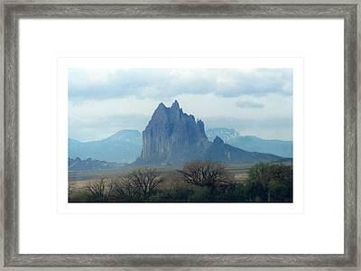 Shiprock  Mystical Mountain New Mexico Framed Print by Jack Pumphrey