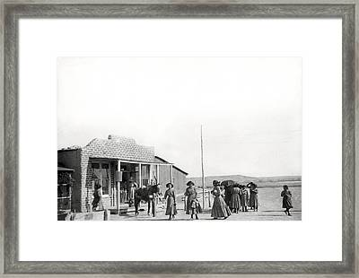 Shiprock Trading Post Framed Print by Underwood Archives