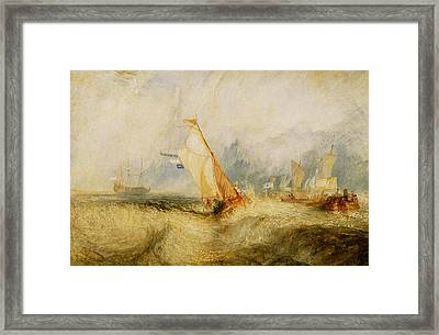 Ships A Sea Getting A Good Wetting Framed Print by Joseph Mallord