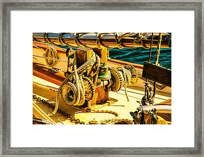 Ships Bell Sailboat Framed Print by Bob Orsillo