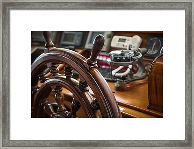 Ships Wheel Framed Print by Dale Kincaid