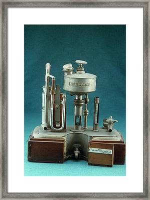 Shipway's Intratracheal Apparatus Framed Print by Science Photo Library