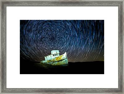 Shipwreck Framed Print by Peter Irwindale