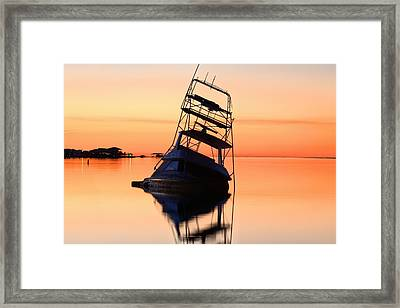 Shipwrecked In Navarre Framed Print by JC Findley