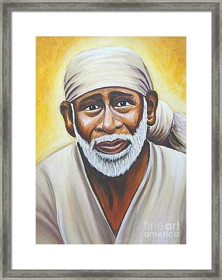 Shirdi Sai Baba Framed Print by Gayle Utter