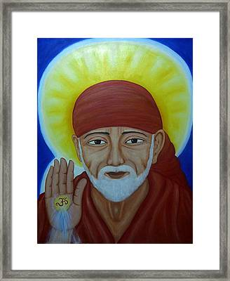 Shirdi Sai Baba Framed Print by Vimala Jajoo