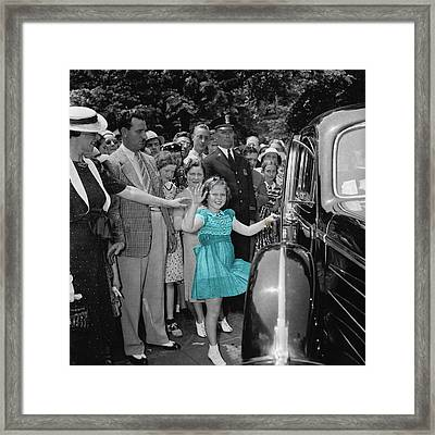 Shirley Temple Framed Print by Andrew Fare