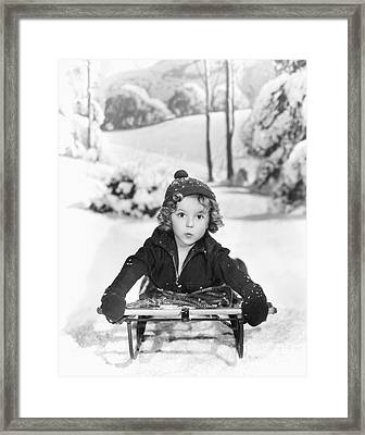 Shirley Temple Framed Print by MMG Archives