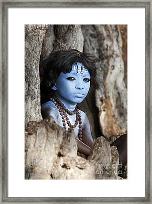 Shiva Boy Framed Print by Tim Gainey