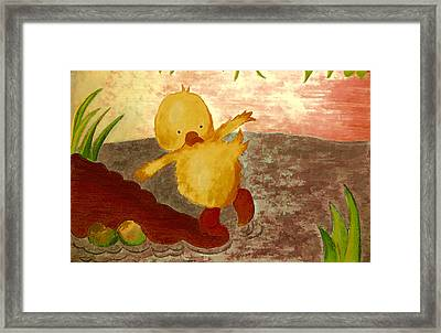 Shivery Duck Framed Print by Jo Ann