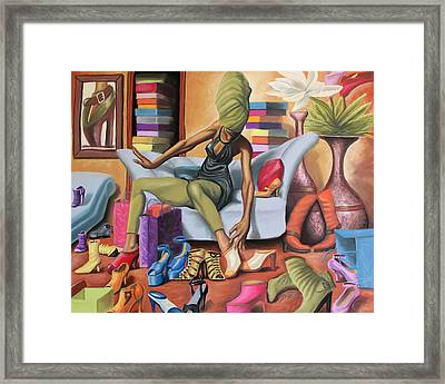 Shoe Addict Framed Print by The Art of DionJa'Y