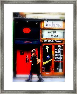 Shoe Repair And Things London  Framed Print by Funkpix Photo Hunter