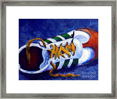 Shoeless Framed Print by Jackie Carpenter