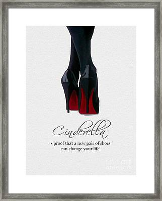 Shoes Can Change Your Life Framed Print by Rebecca Jenkins