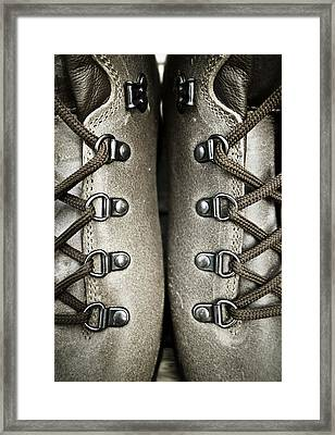 Shoes Framed Print by Frank Tschakert