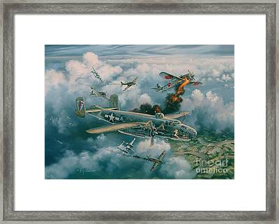 Shoot-out Over Saigon Framed Print by Randy Green